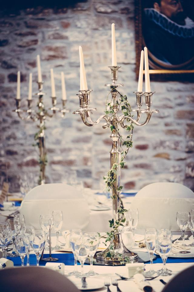 Large candelabra set up