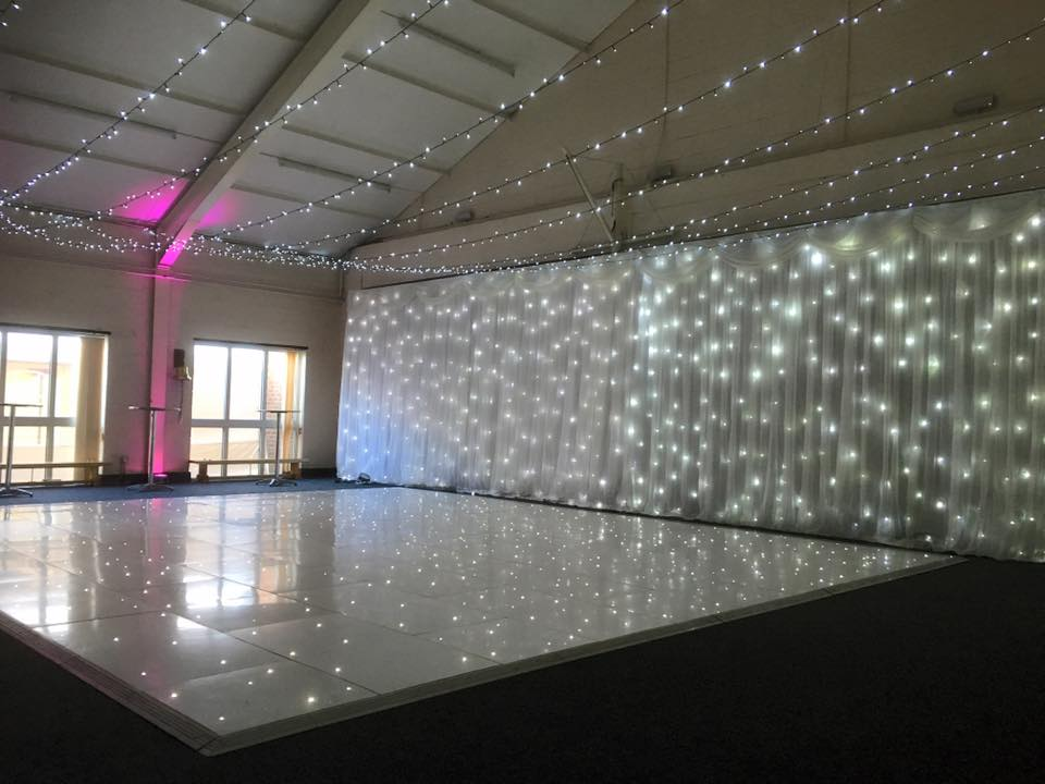 Fairy light backdrop wall